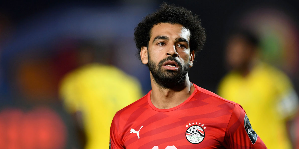 Mo Salah in action for Egypt at the African Cup of Nations