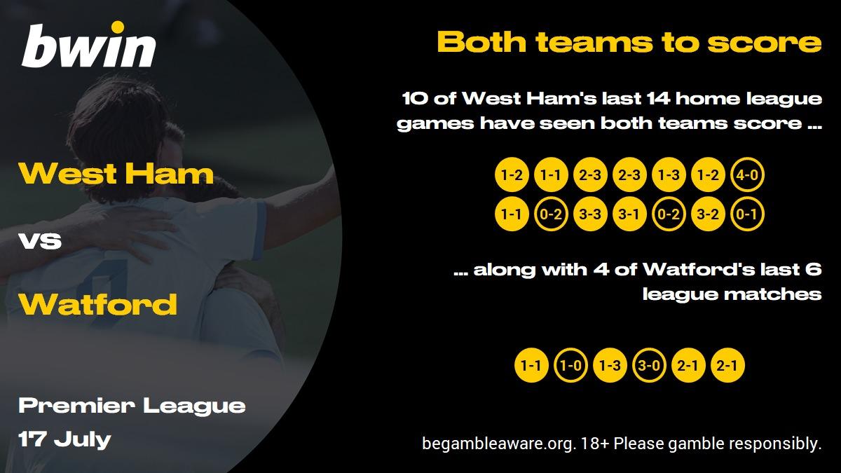 West Ham vs Watford prediction, Premier League, football