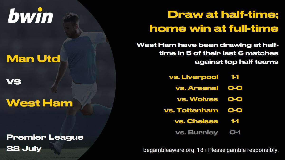 Man Utd vs West Ham prediction, Premier League, football