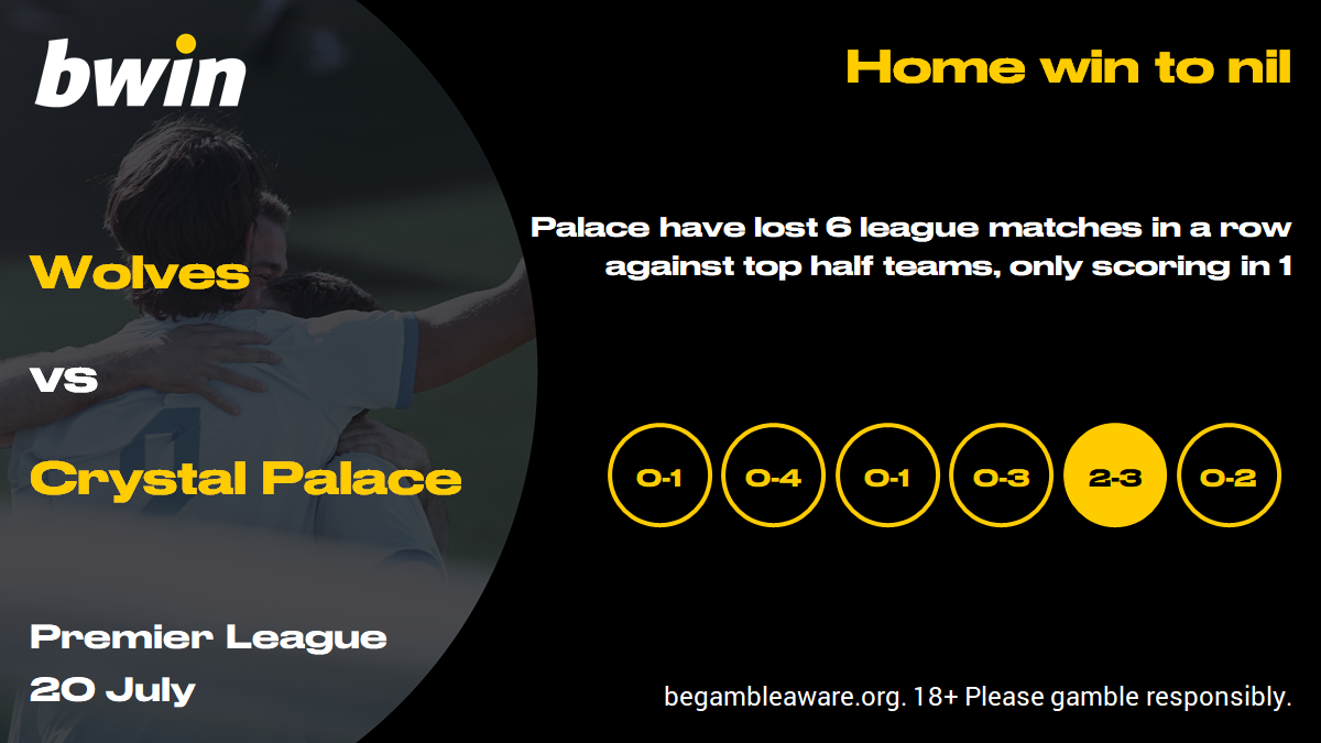 Wolves vs Crystal Palace prediction, Premier League, football