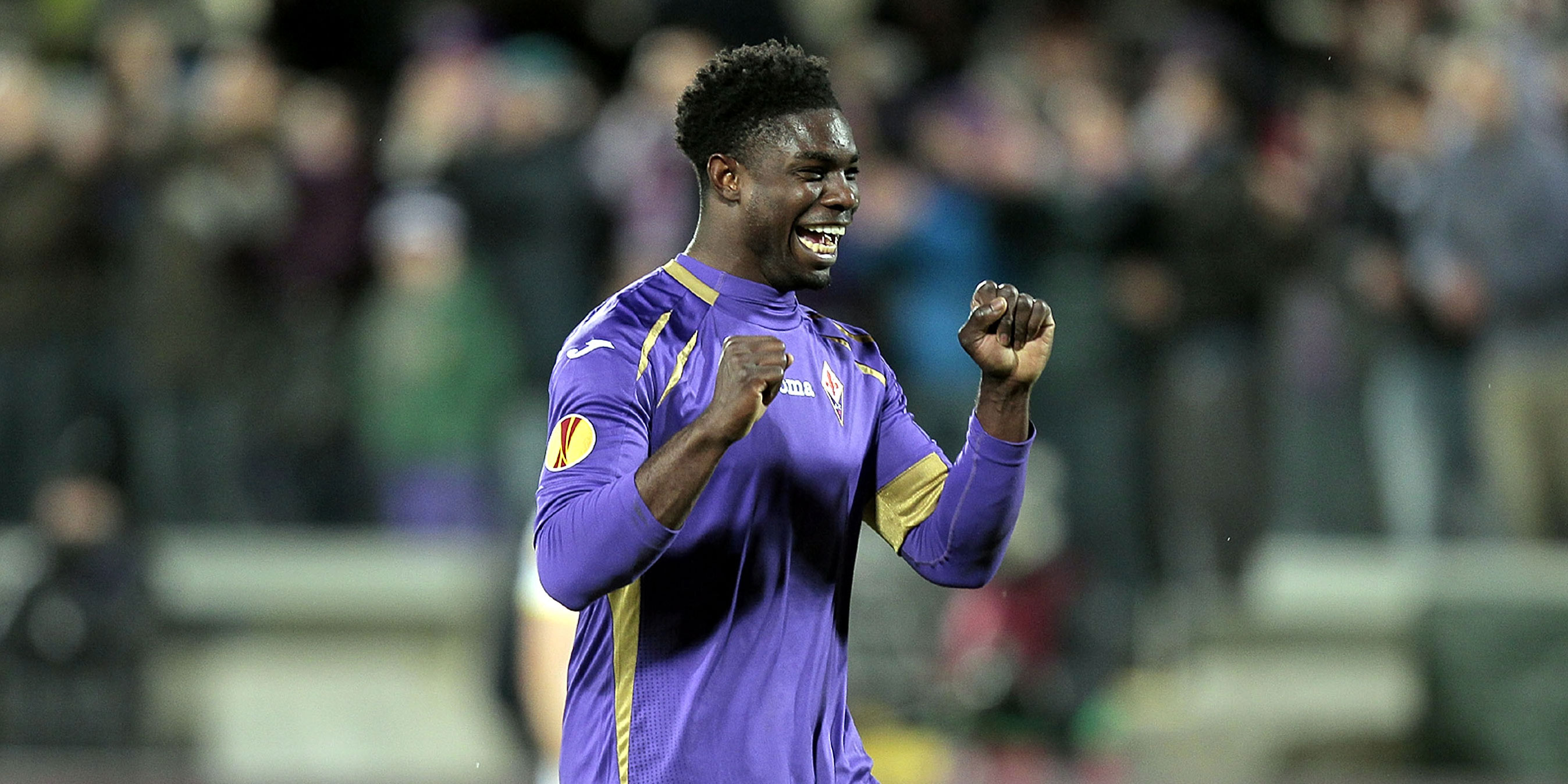 Micah Richards in action for Fiorentina