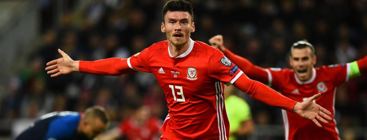Wales forward Kieffer Moore