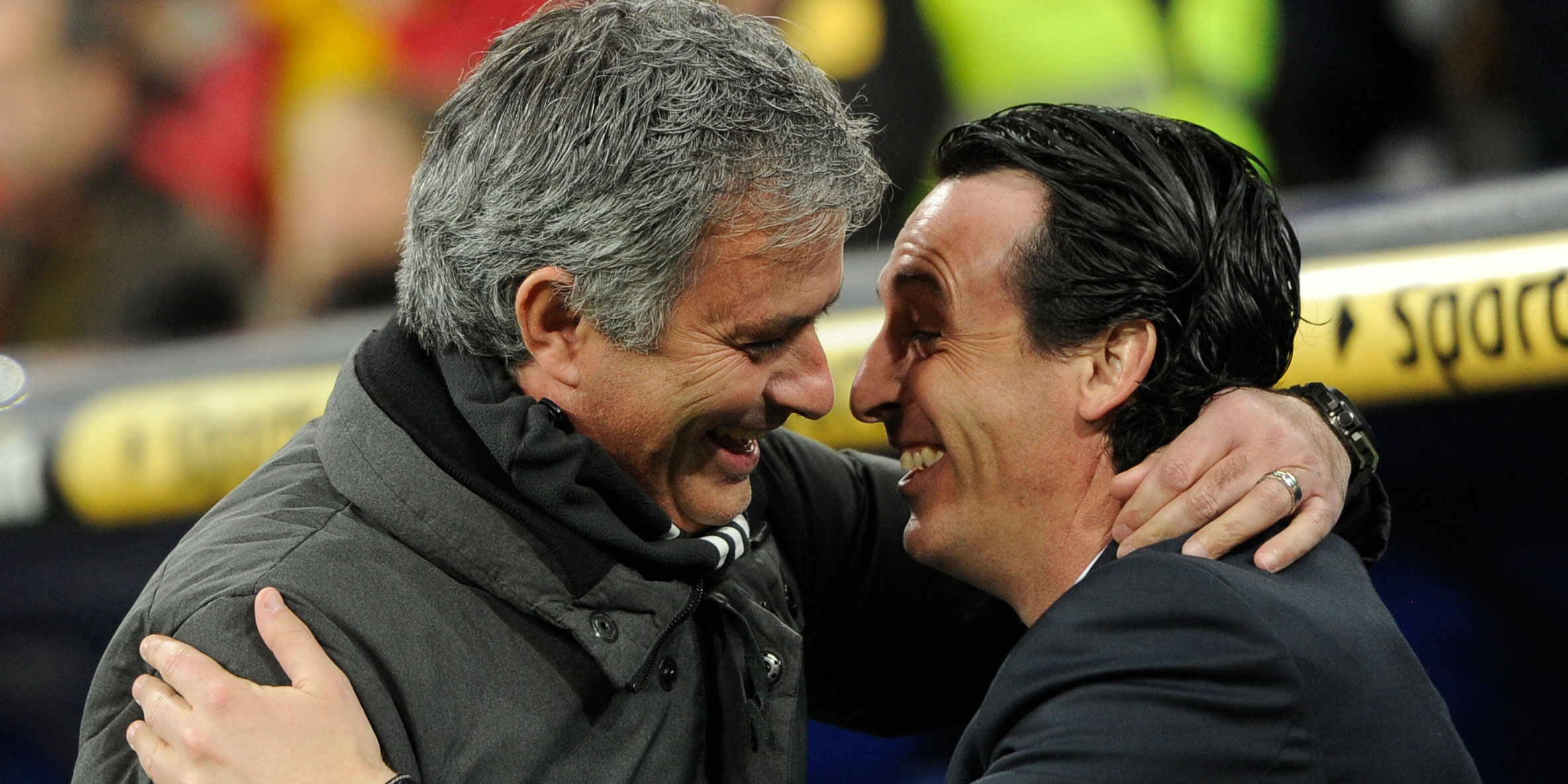 Jose Mourinho and Unai Emery