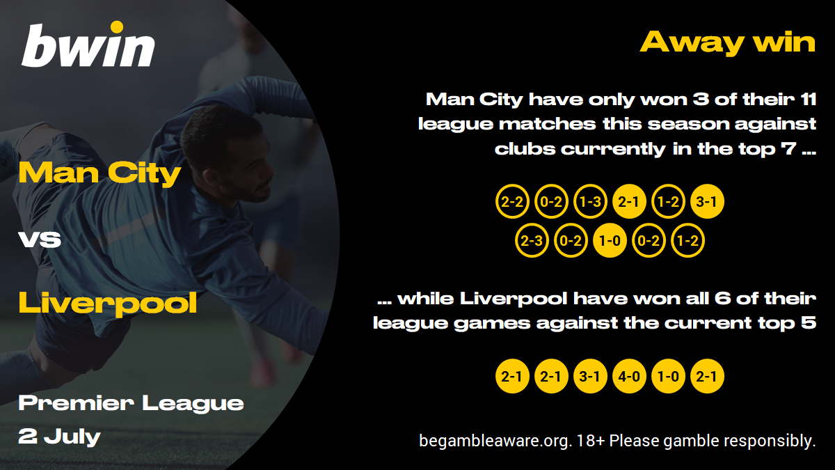 Man City vs Liverpool prediction, Premier League, football