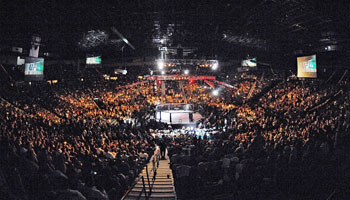 Where have the major MMA events been held?