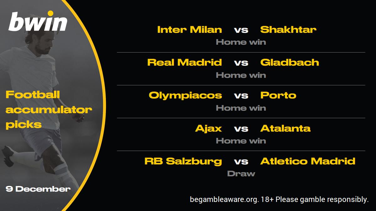 Champions League predictions, football