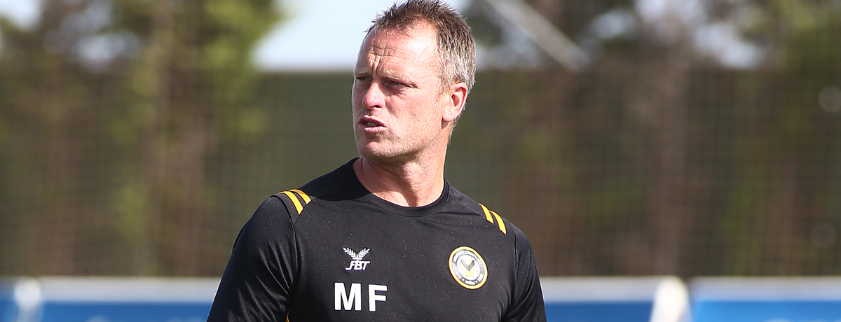 Newport manager Michael Flynn