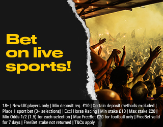 Bet on live sports!
