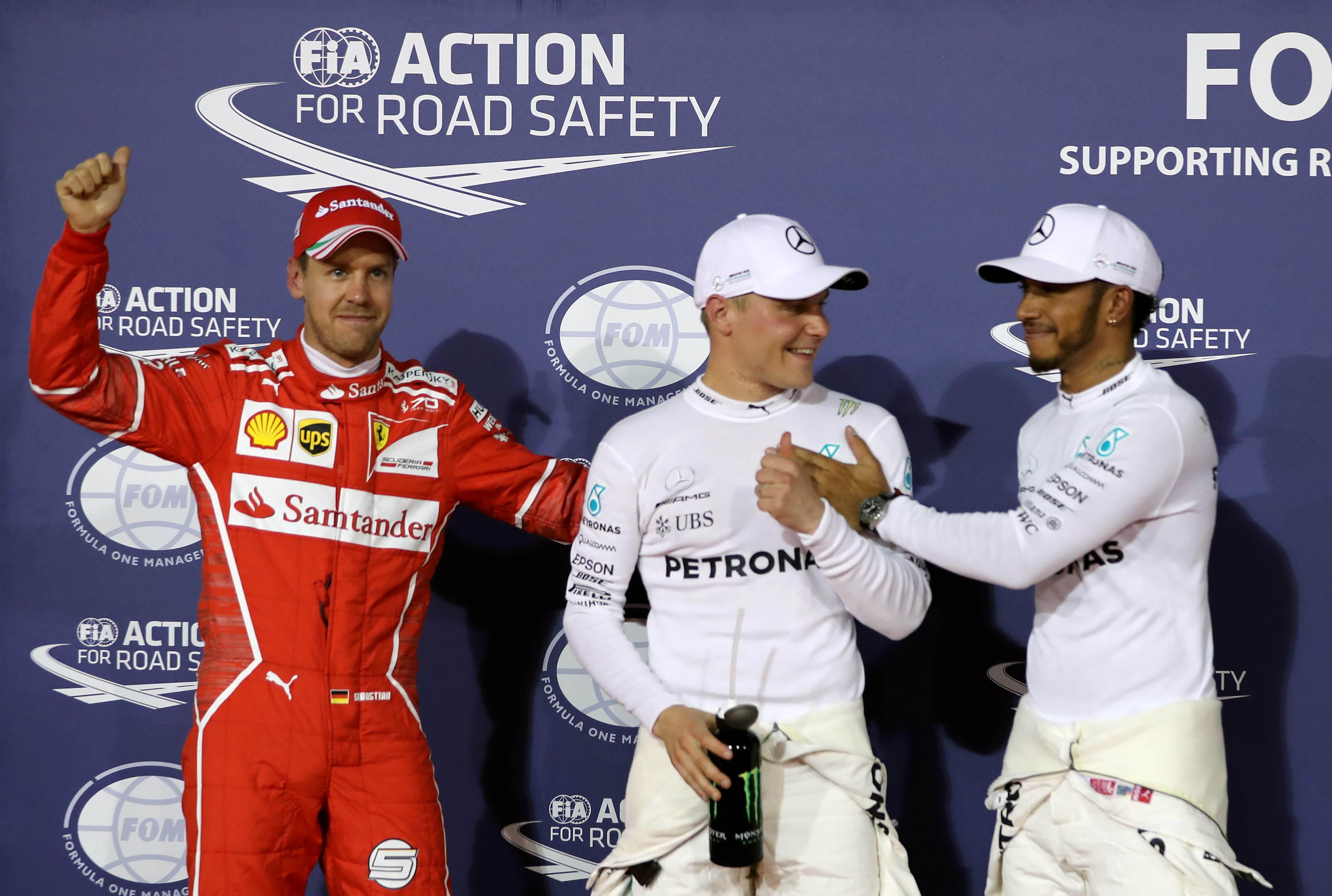 GP de Bahréin: Bottas se cuela en el baile de Hamilton y Vettel