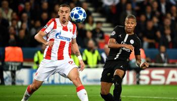 Estrella Roja de Belgrado-Paris Saint-Germain: todo abierto en el grupo C de la Champions League