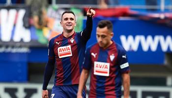 Eibar-Levante: dos equipos parejos que luchan por subir posiciones