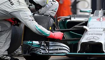 Formule 1 auto's en banden