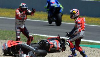 Moto GP d'Espagne: quatre pilotes en neuf points