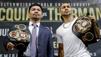Pacquiao – Thurman : ceinture WBA des poids welters en jeu