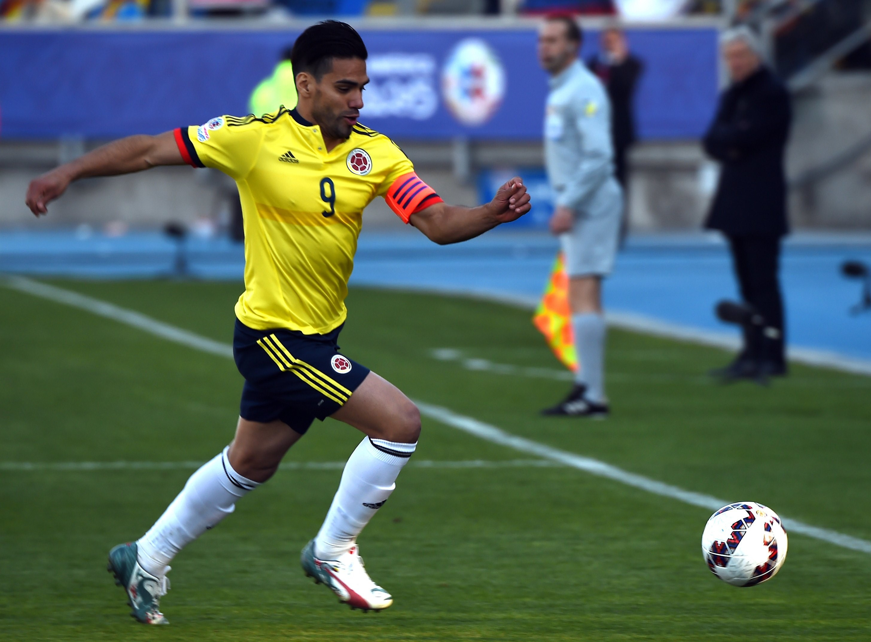 Radamel Falcao, impegnato in Copa America con la maglia della Colombia