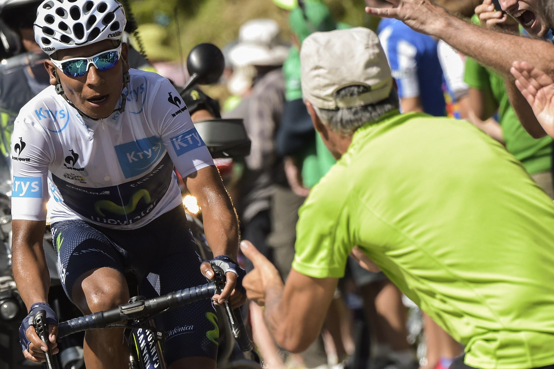 La fatica di Quintana impegnato nell'ultima frazione del Tour