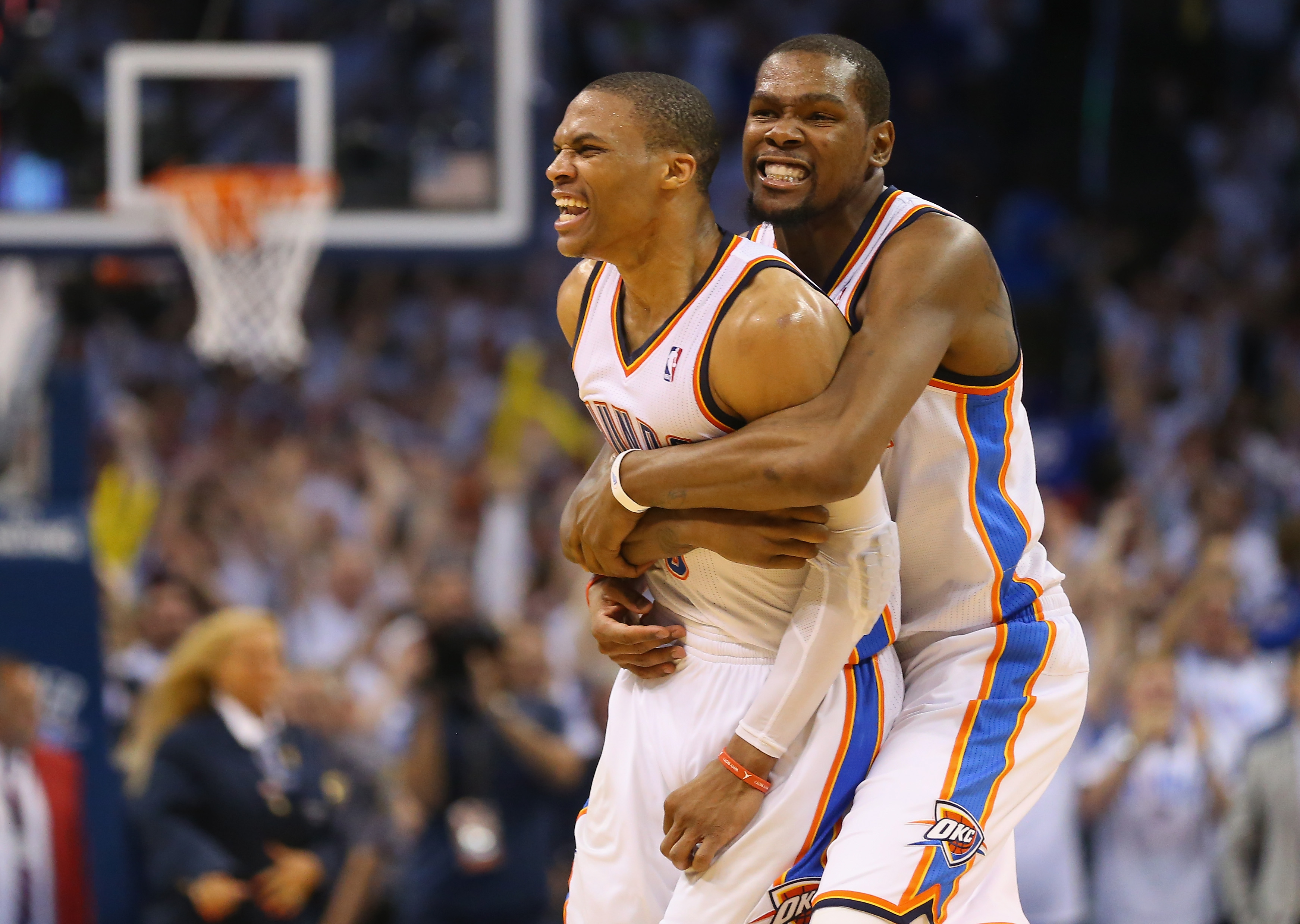 Westbrook e Durant, stelle degli Oklahoma City Thunder (forse all'ultima stagione insieme)