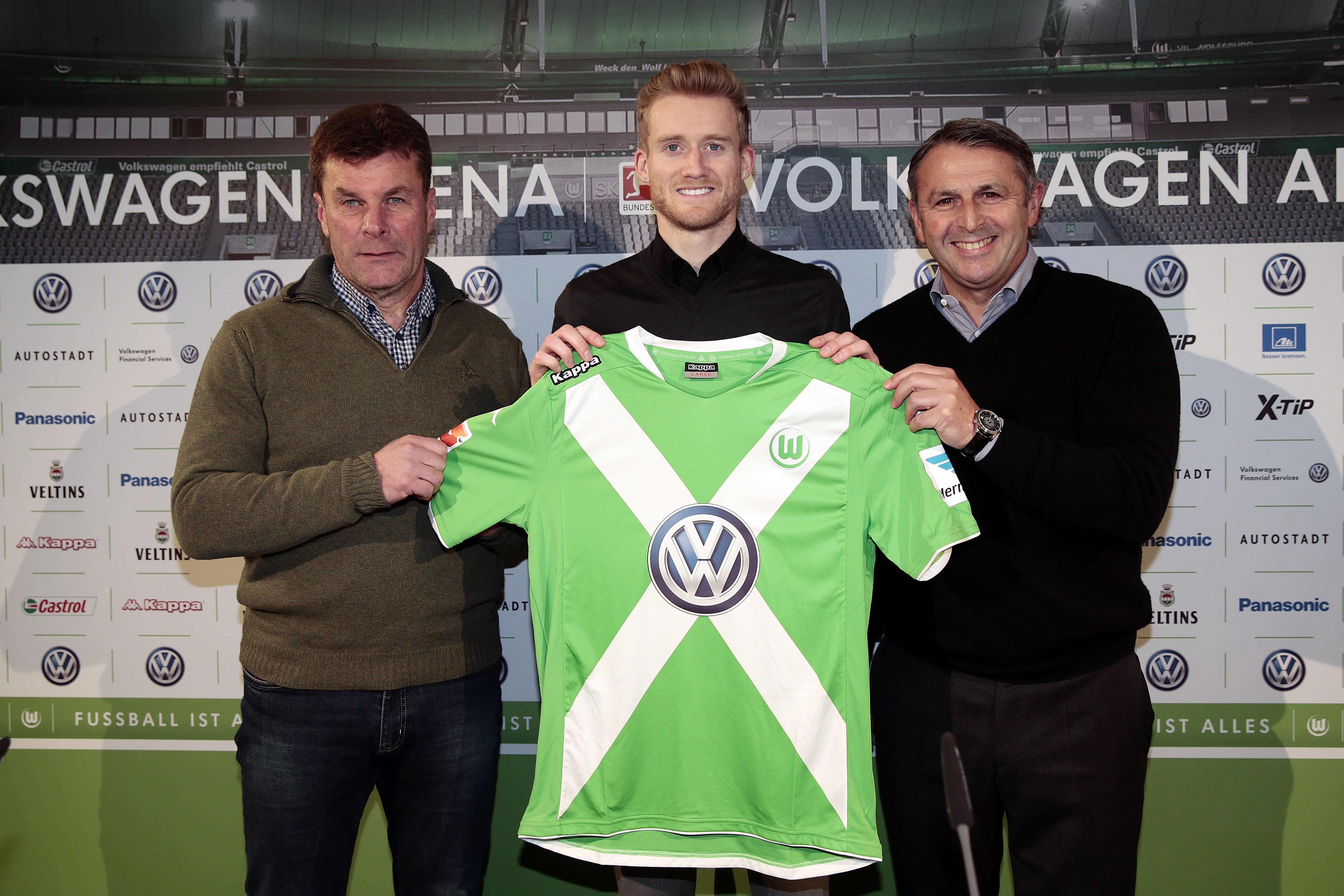 Press Conference VfL Wolfsburg - Andre Schuerrle