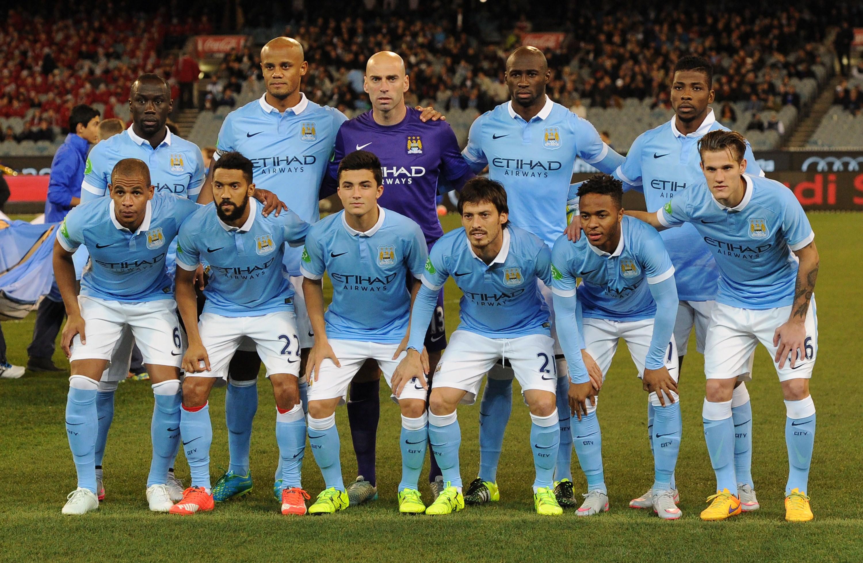 Gli 11 del Man City nel primo turno contro la Roma