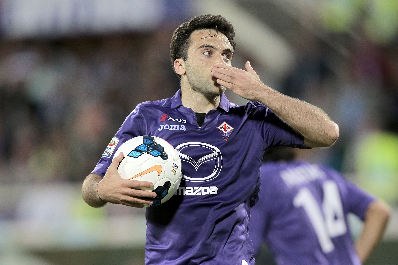 Giuseppe Rossi esulta dopo un gol... qualche anno fa