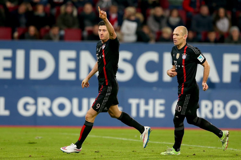 Lewandowski e Robben, 17 gol per entrambi lo scorso anno