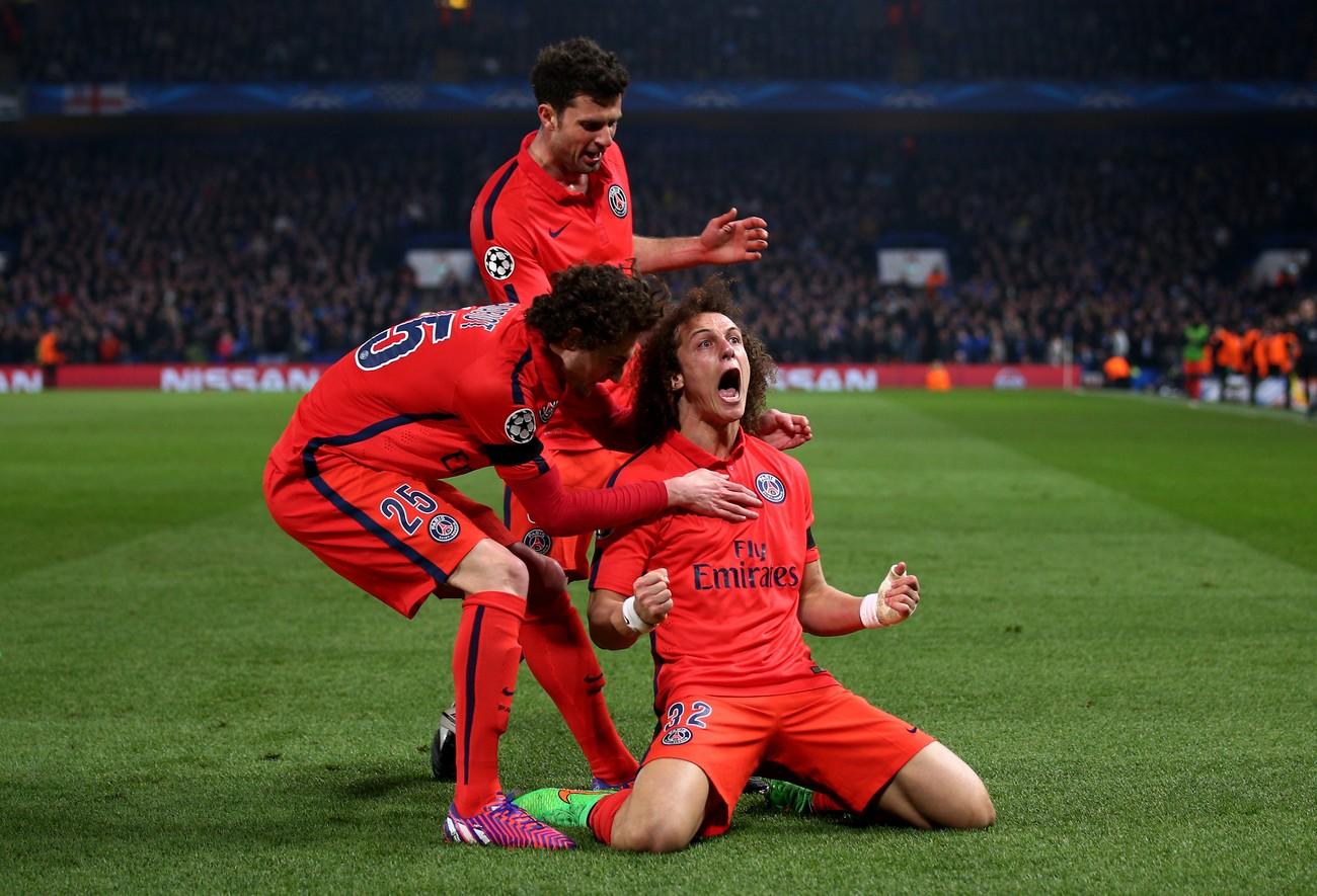 David Luiz è triste dopo aver segnato alla sua ex squadra