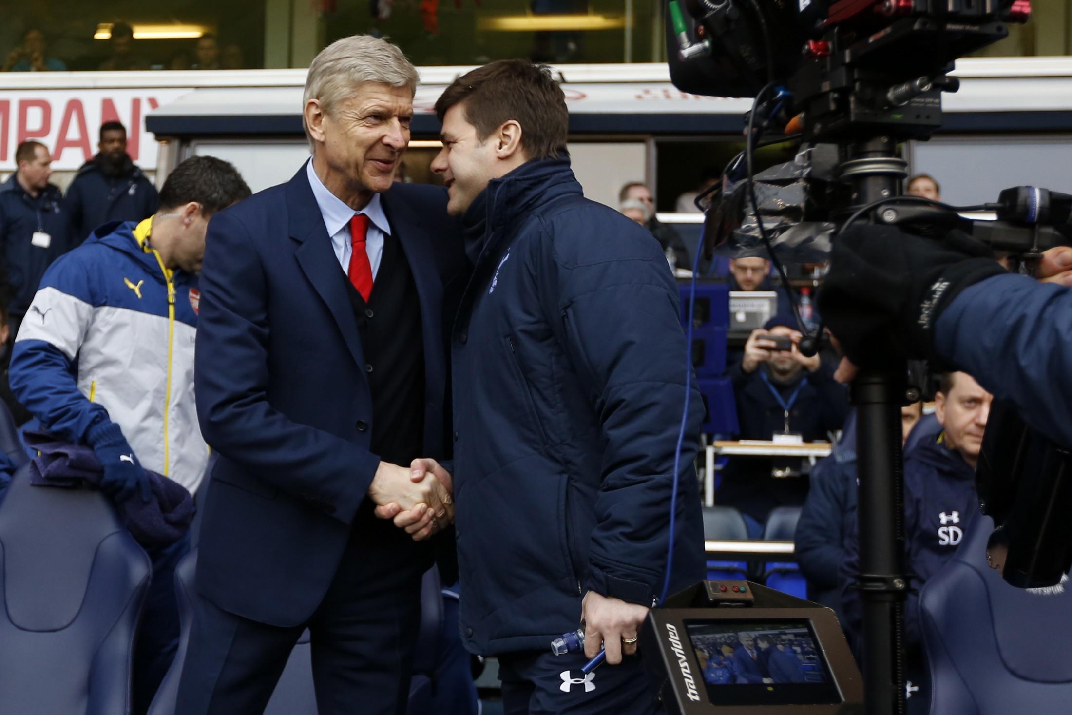 Wenger e Pochettino si affronteranno sabato nello scontro diretto