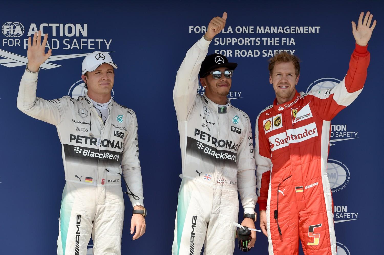 Un eventuale podio-fotocopia delle qualifiche, con Hamilton davanti a Rosberge e Vettel, è bancato @2.50