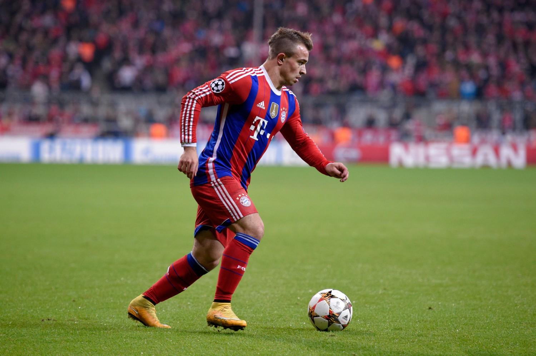 Shaqiri con la maglia del Bayern Monaco. Presto potrebbe ricalcare i campi della Bundes