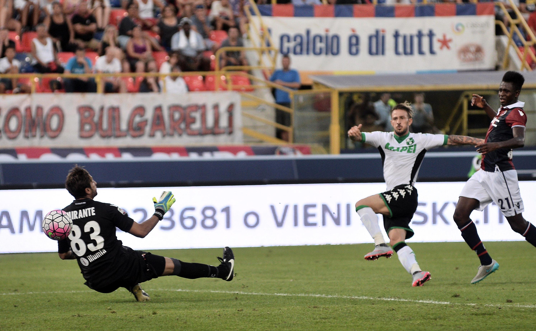 Antonio Floro Flores in gol contro il Bologna