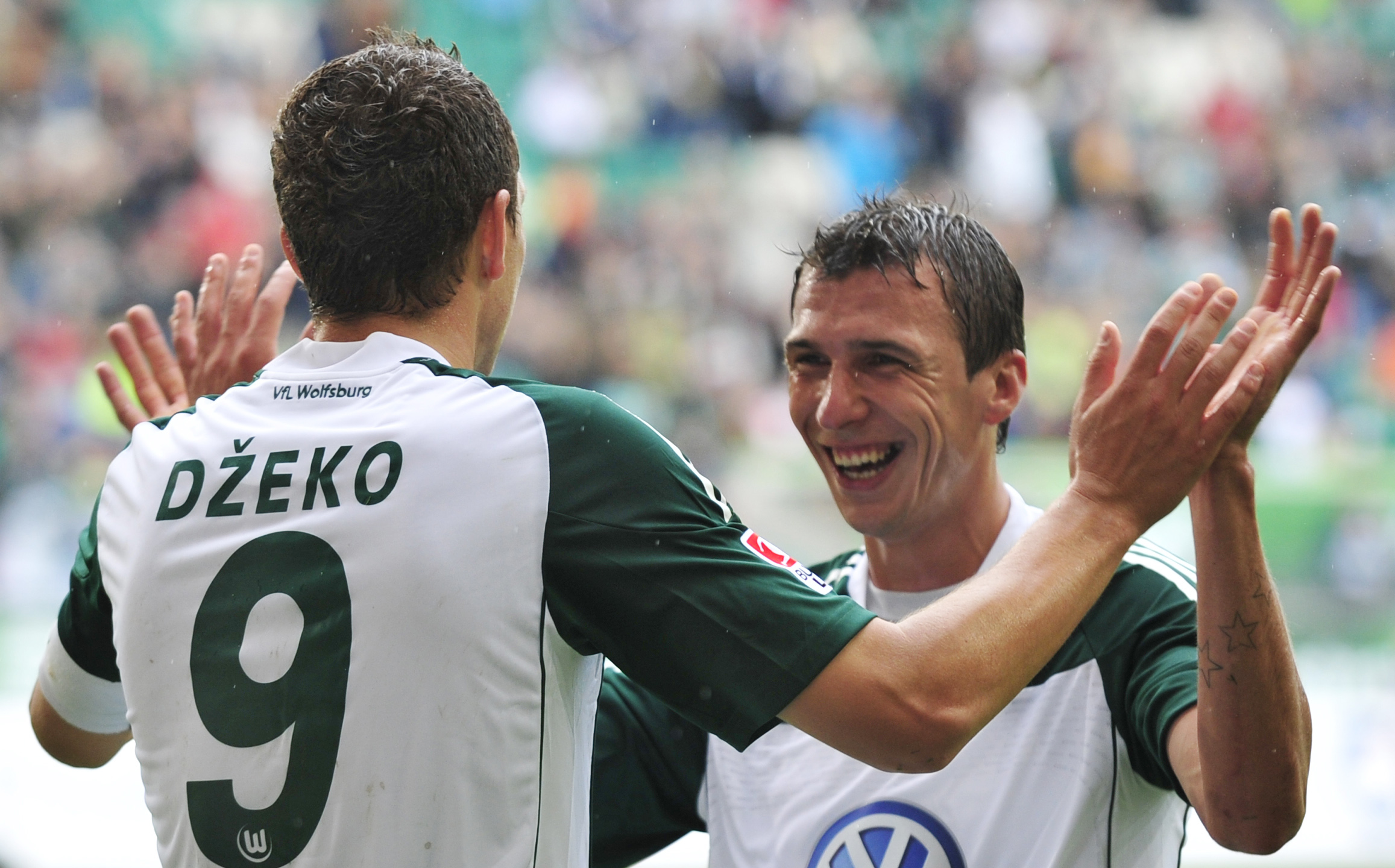Dzeko e Mandzukic ai tempi del Wolfsburg