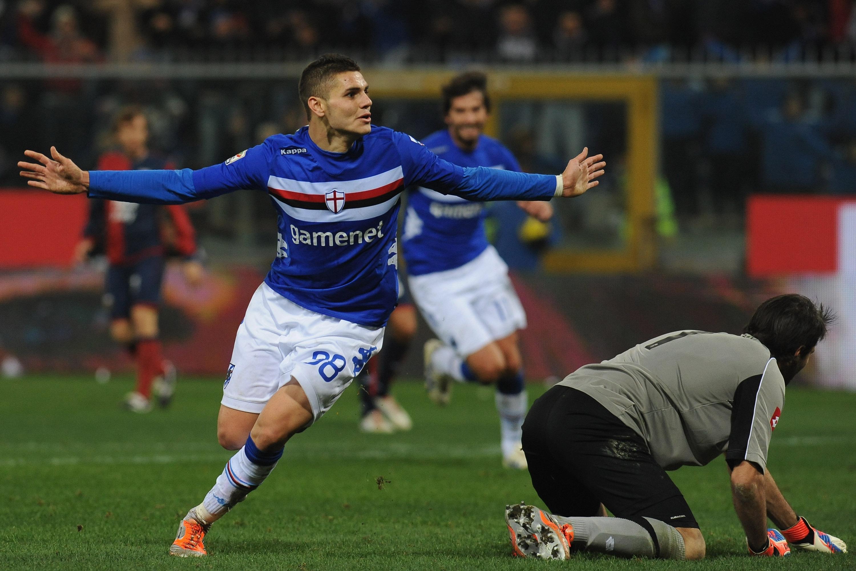 Il primo gol in Serie A di Icardi è con la maglia della Samp contro il Genoa: un predestinato