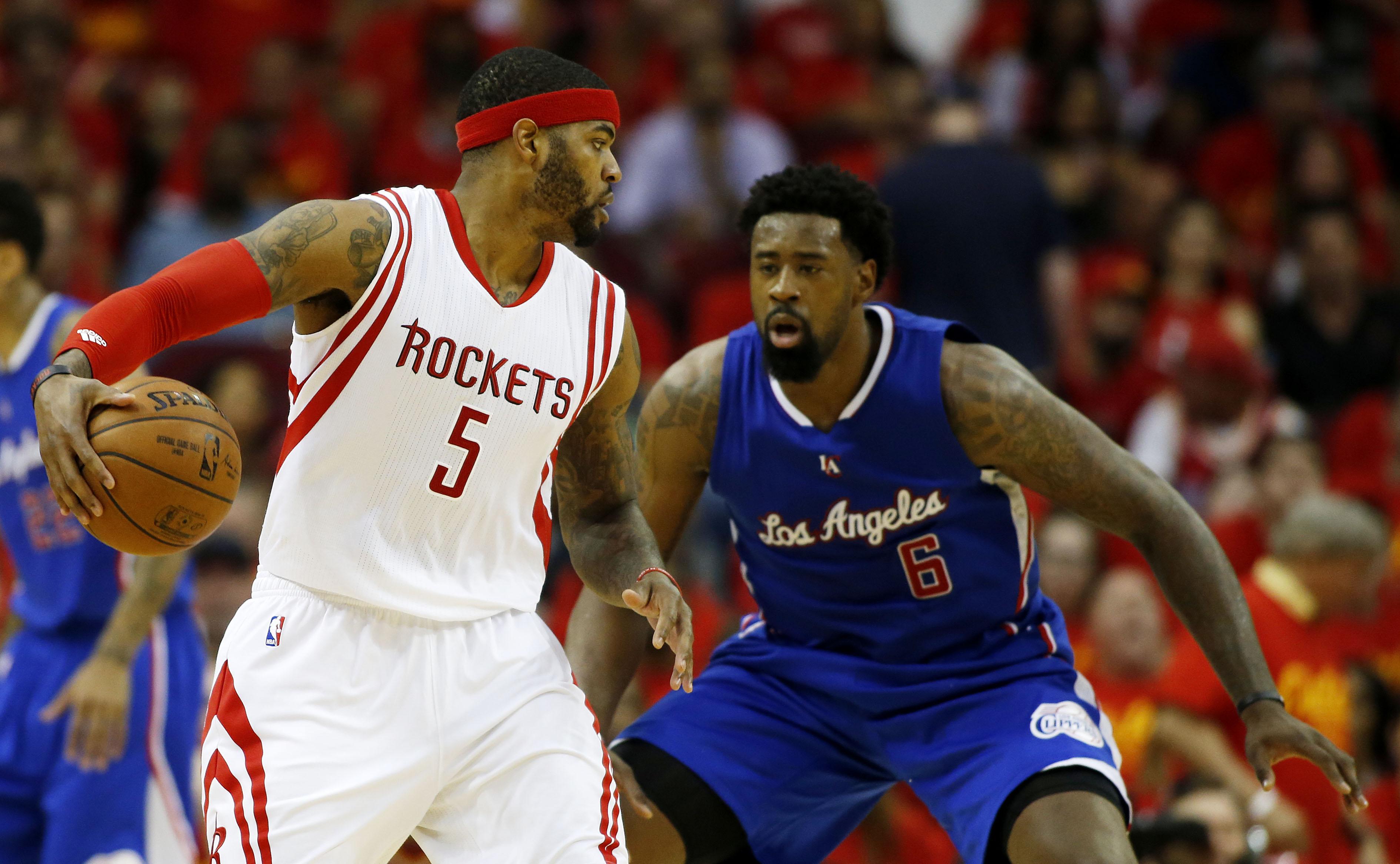 Josh Smith e DeAndre Jordan, prossimi compagni di squadra nei Clippers