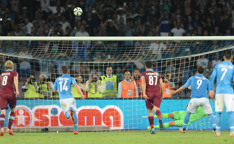 Il rigore sbagliato da Higuain nell'ultima giornata contro la Lazio