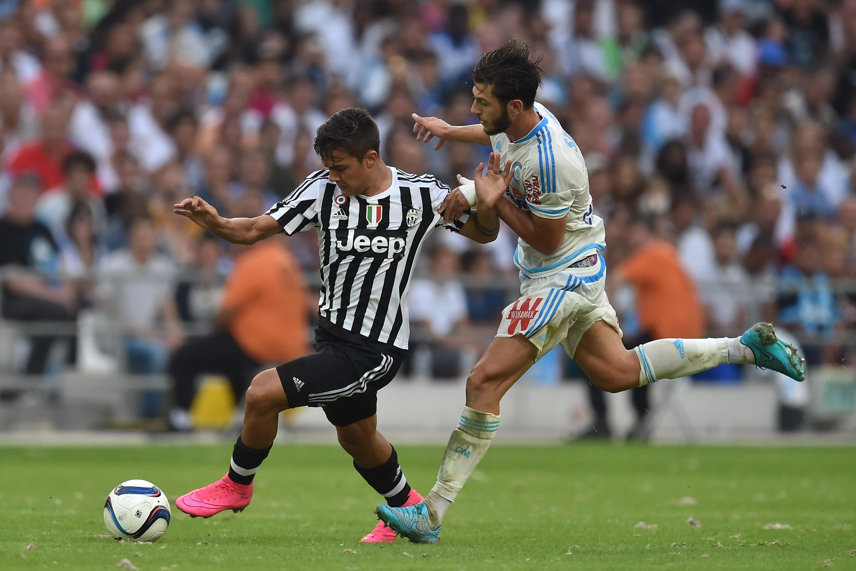 Paulo Dybala in azione contro il Marsiglia