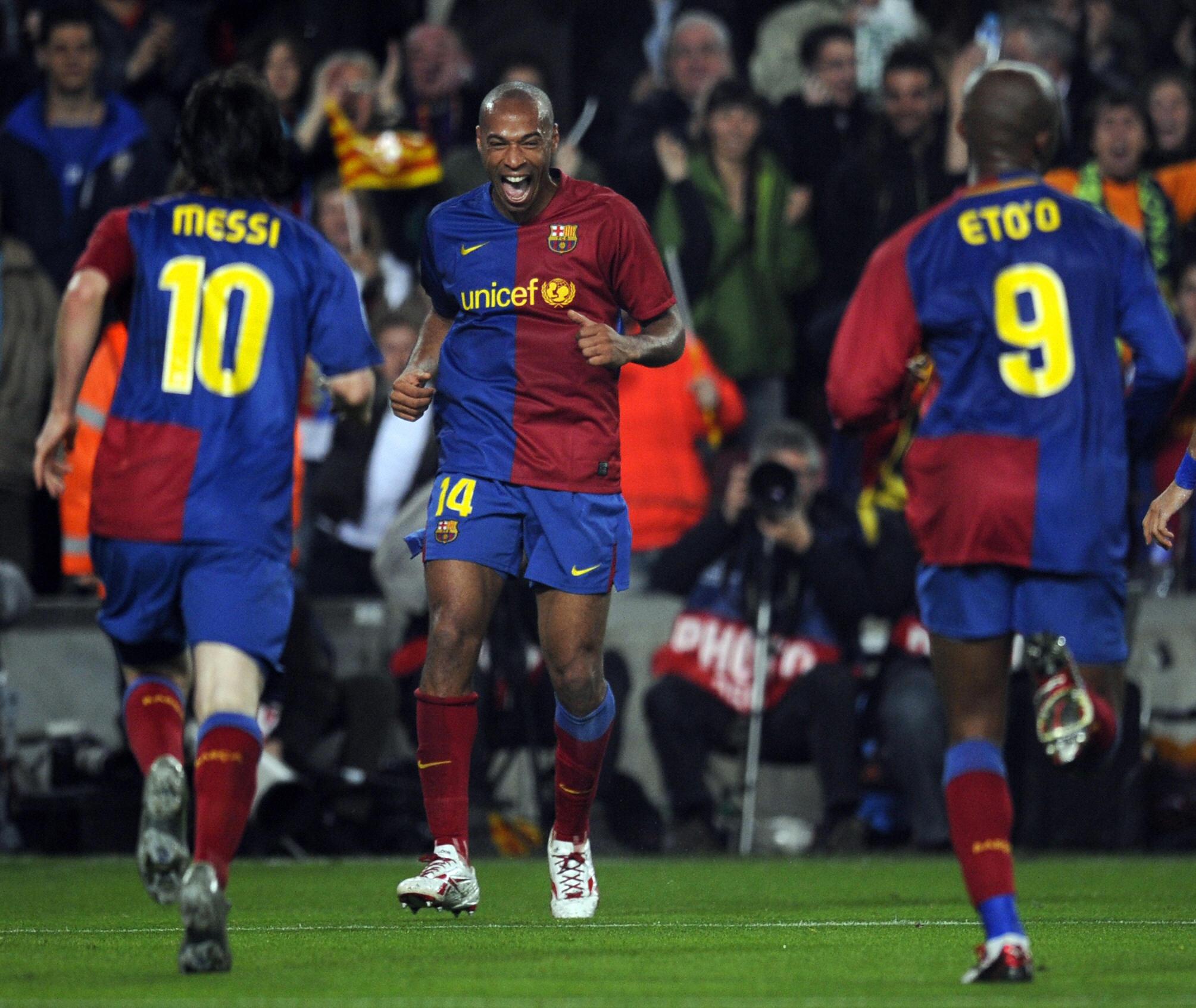 Messi, Eto'o ed Henry: un tridente da 118 gol nella Liga 2008-09