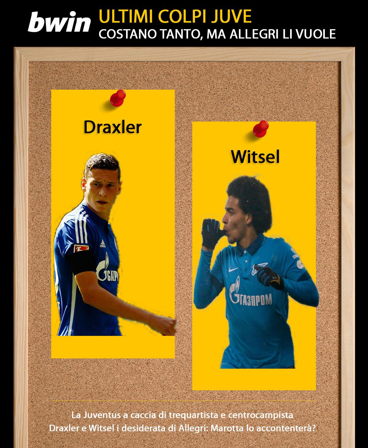 Infografica Draxler-Witsel Juve
