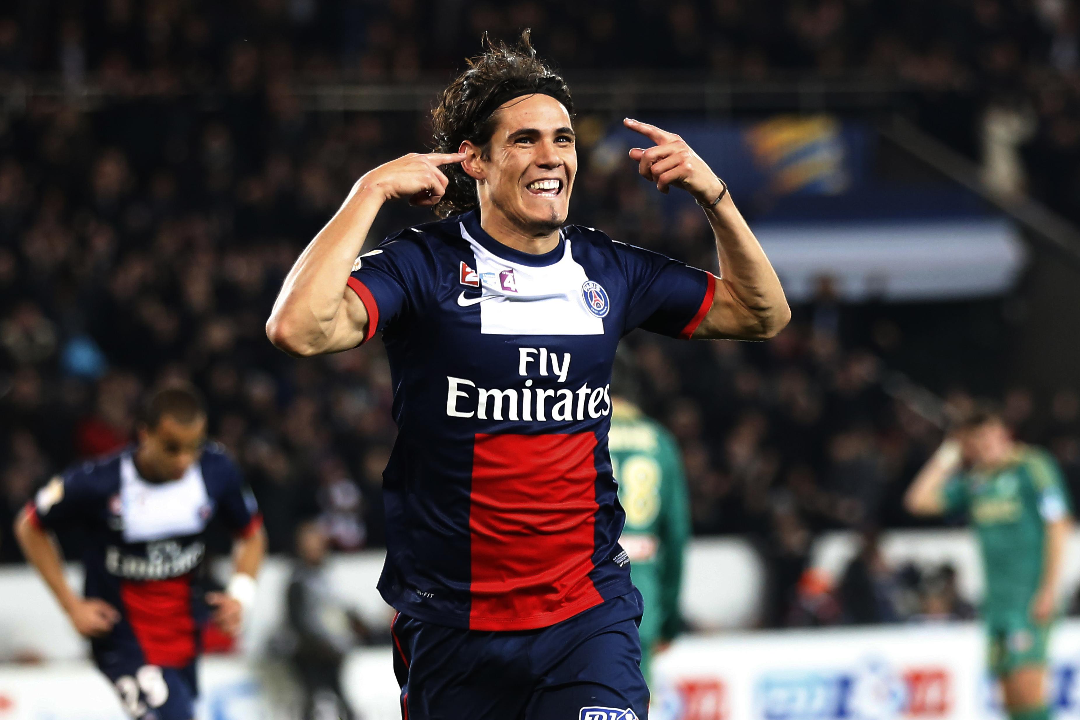 Edinson Cavani, già 7 gol in Ligue 1 per l'ex Napoli