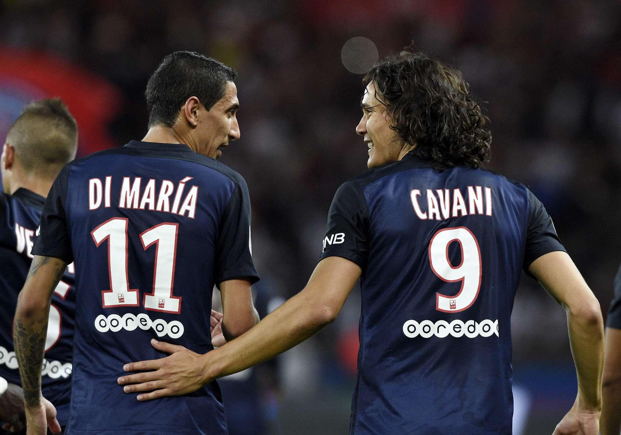 Di Maria e Cavani, due dei gioielli del PSG