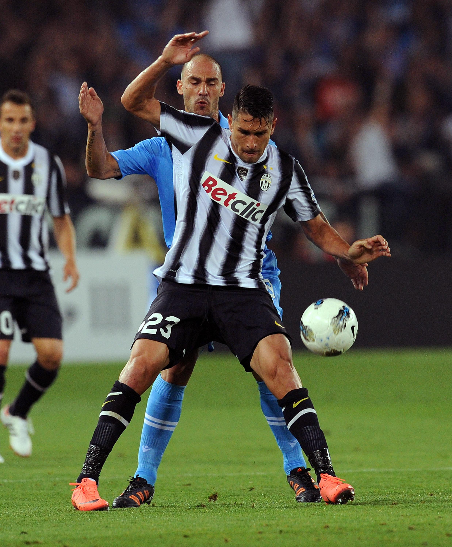 Marco Borriello con la maglia della Juventus: l'unico Scudetto vinto