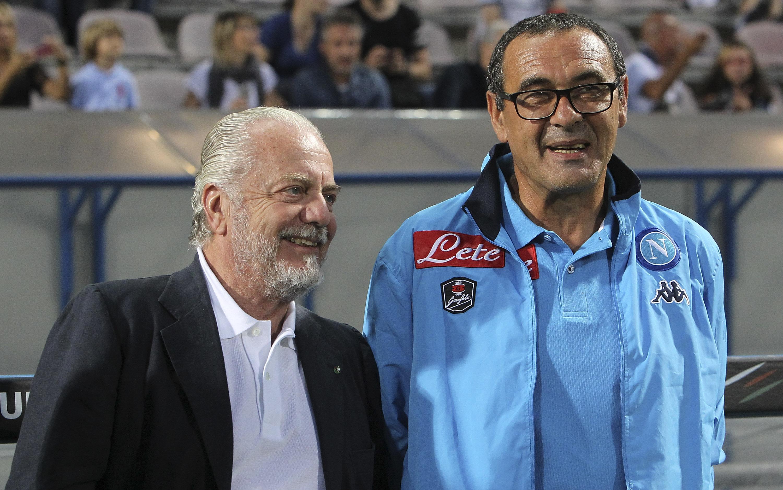 Sarri e De Laurentiis, considerato oggi l'oro di Napoli