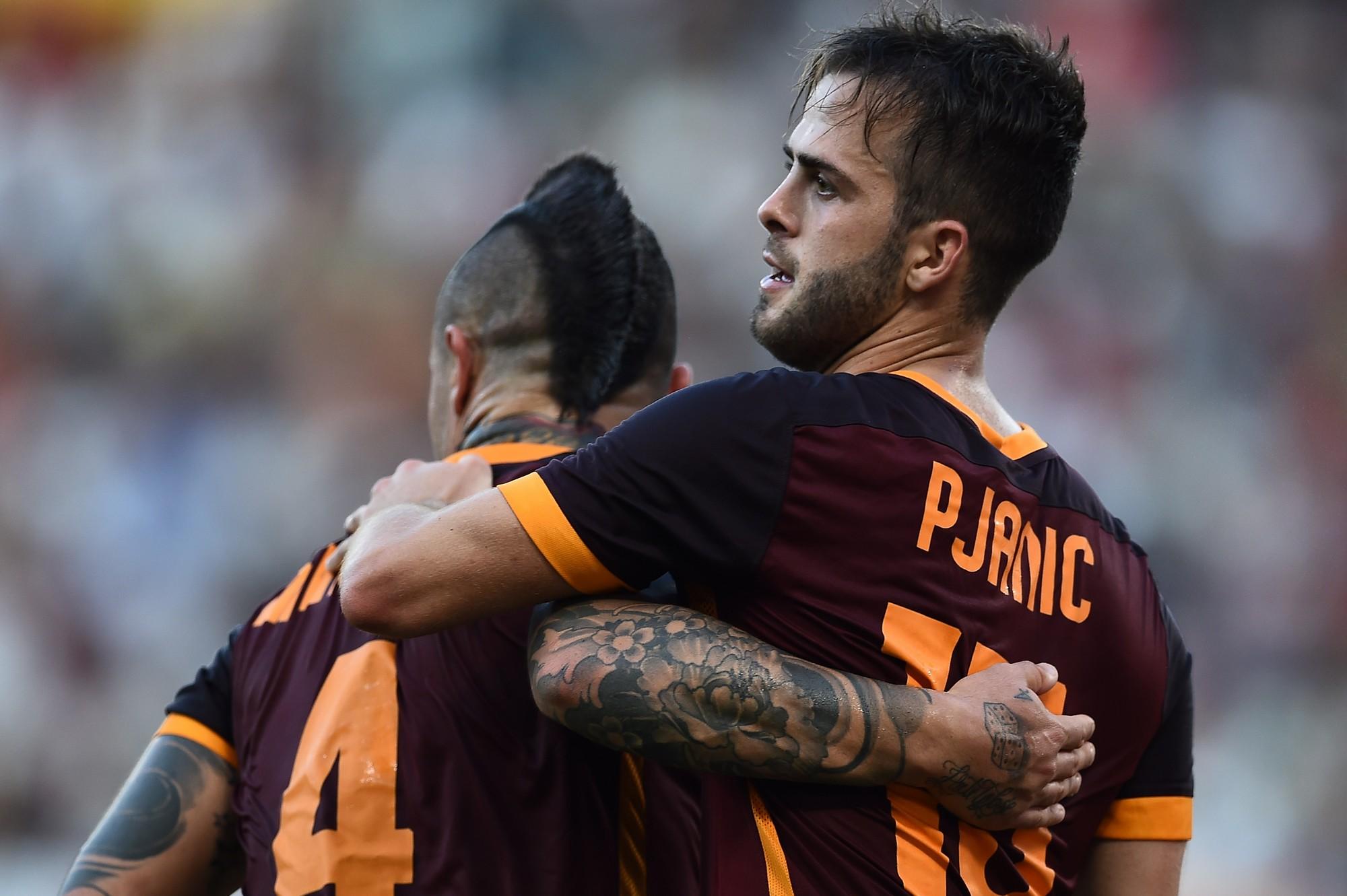 Nainggolan e Pjanic: compagni nella Roma, avversari in nazionale