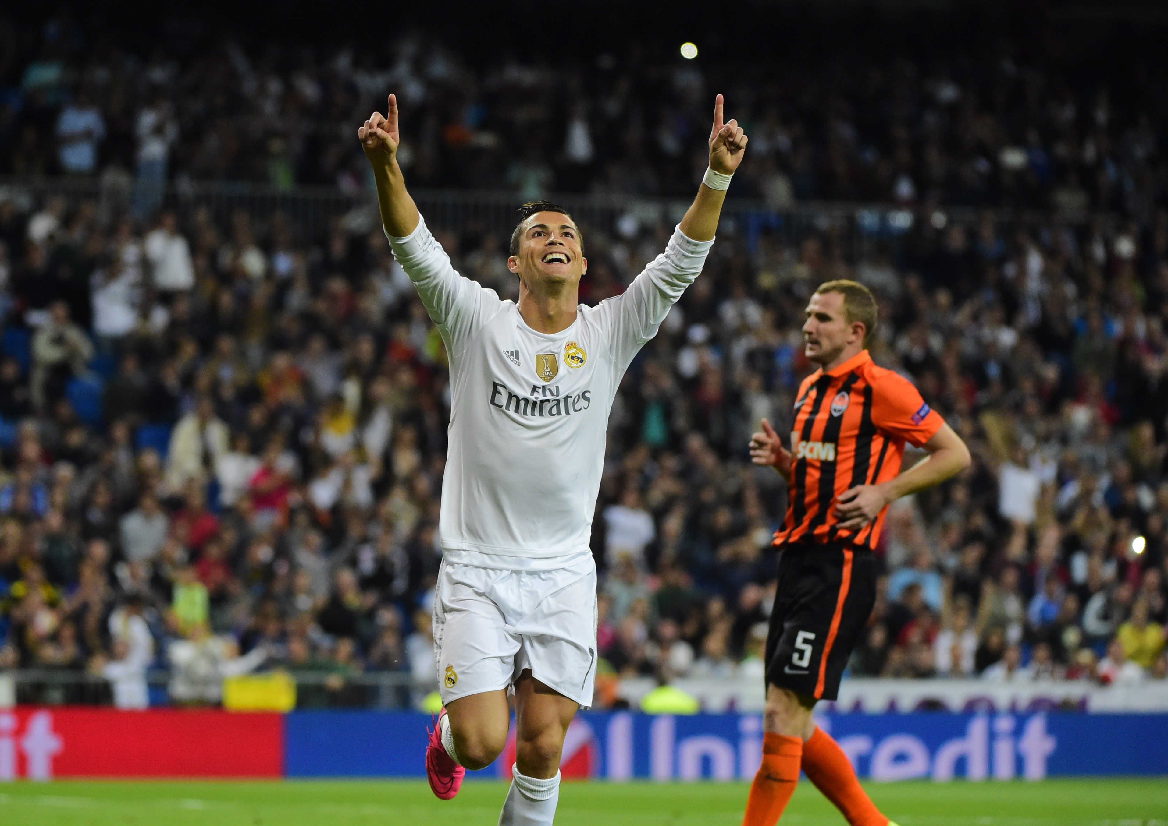 Cristiano Ronaldo, n°1 della classifica del bomber assoluti in Champions con 90 reti