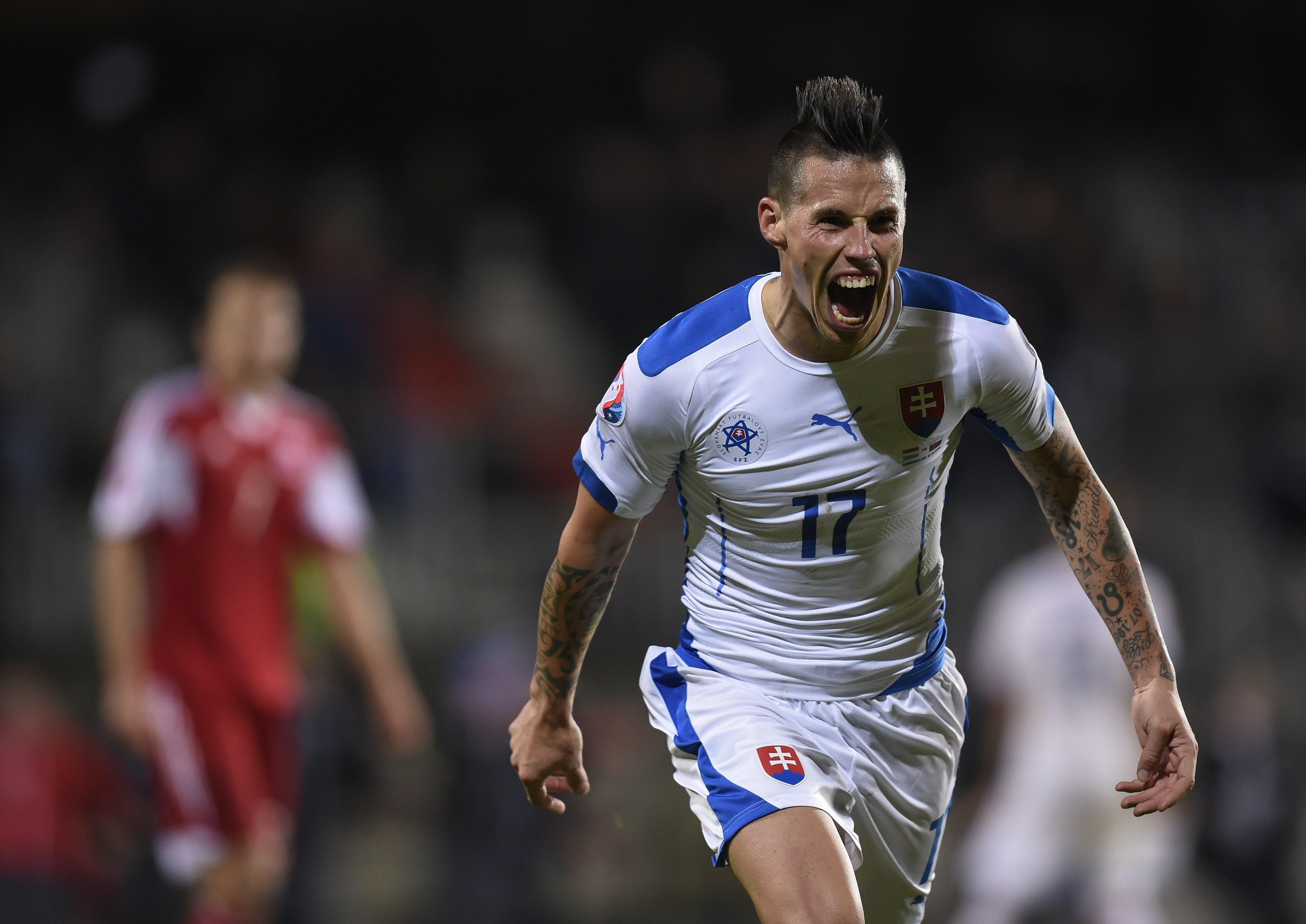 Marek Hamsik, giocatore simbolo della Slovacchia qualificata a Euro2016