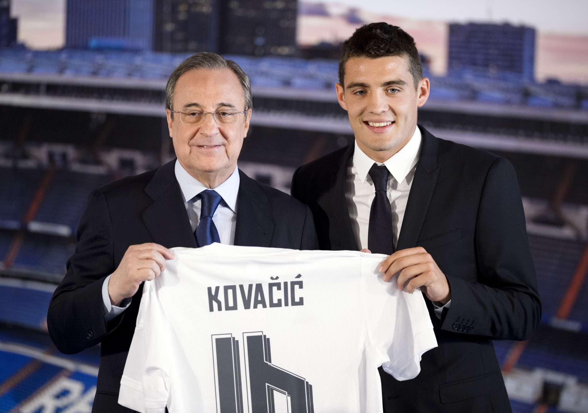 Mateo Kovacic, nel giorno della presentazione al Real Madrid