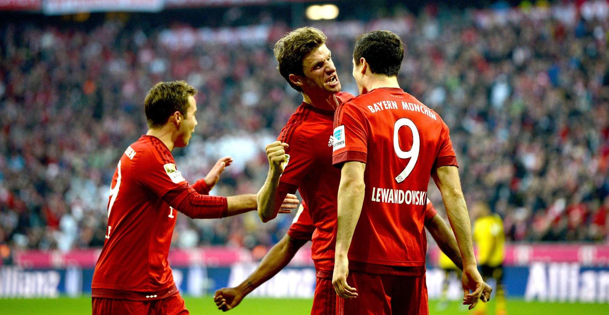 Muller e Lewandowski, rispettivamente 7 e 8 gol in Champions League