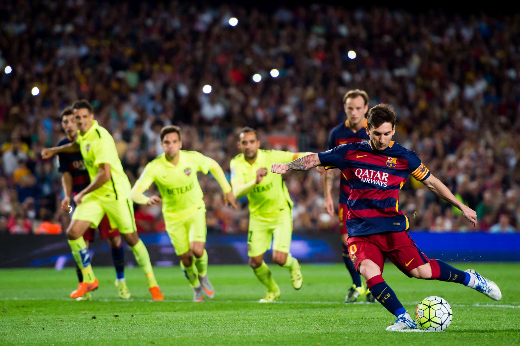 Messi ha segnato contro lo Sporting Gijon i gol numero 300 e 301 nella Liga