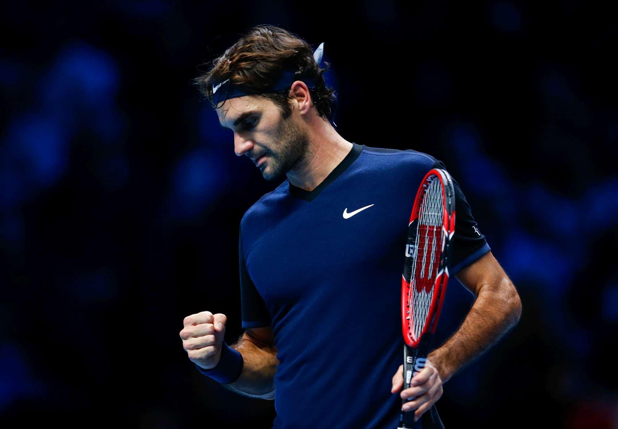 Roger Federer, semifinalista alle Atp Finals di Londra, attende di conoscere il proprio sfidante
