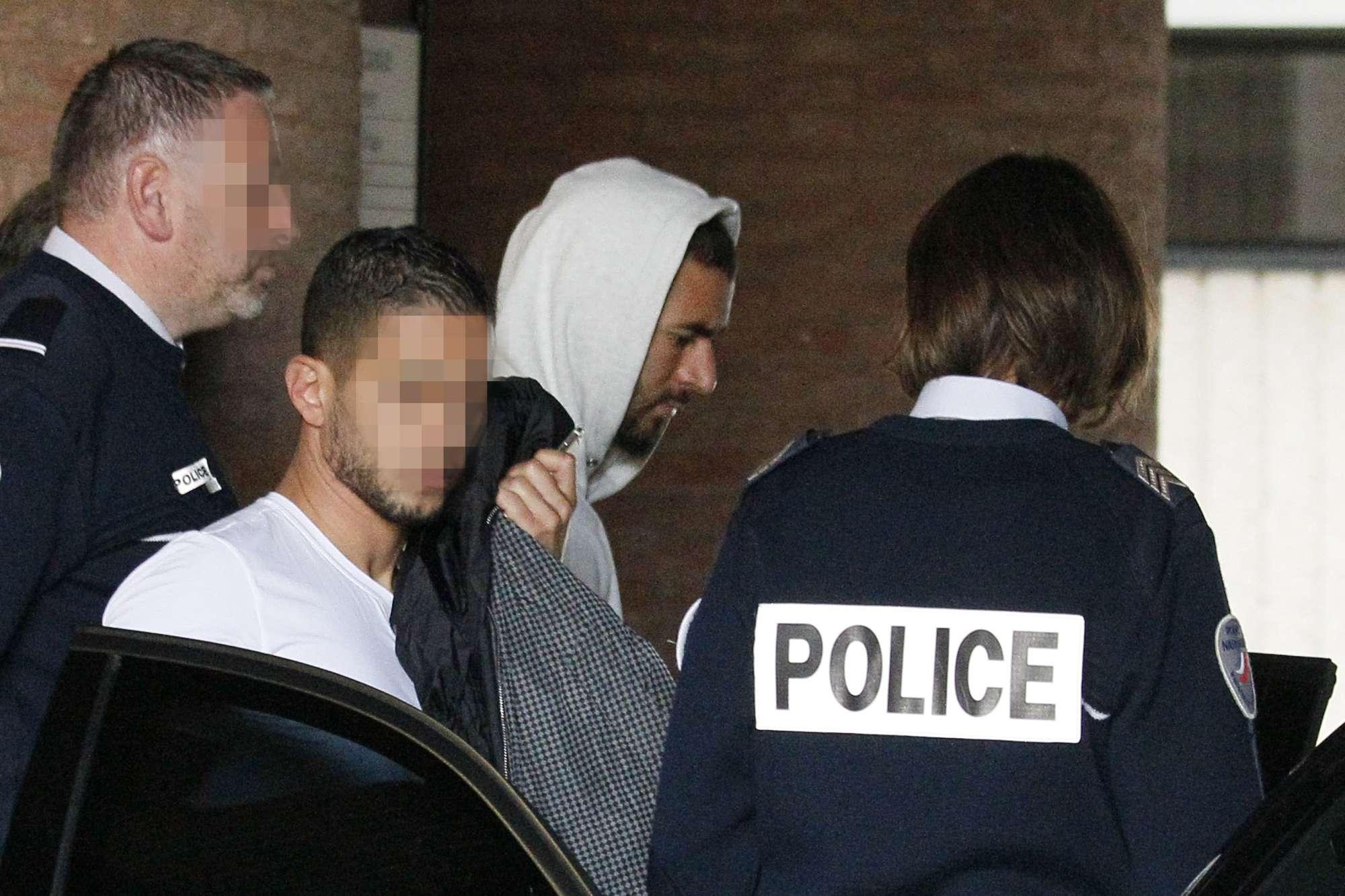 Valbuena nel momento dell'arresto