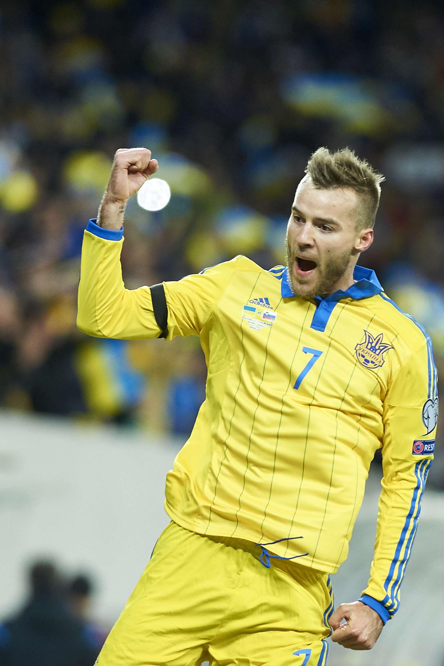 Yarmolenko festeggia il gol nel match d'andata